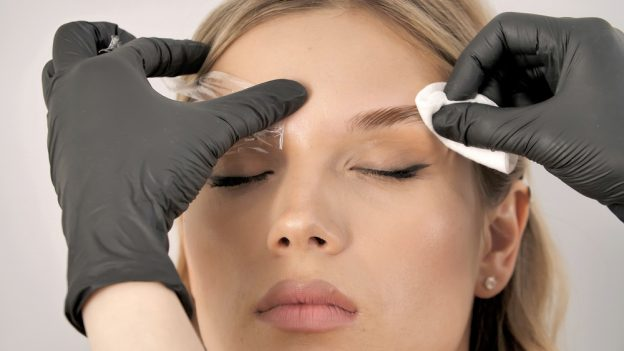 Online training brow lifting